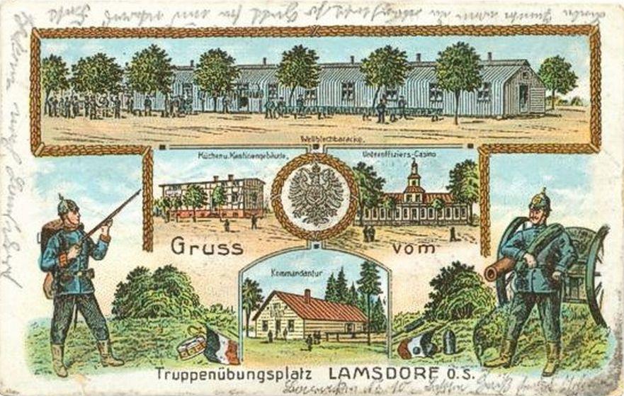 Łambinowice 1890-1905 pozdrowienia z poligonu