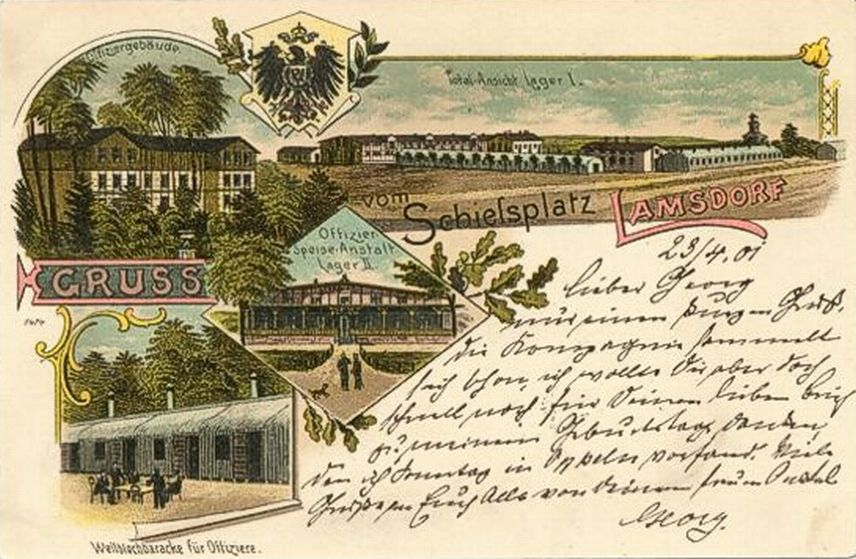 Łambinowice 1896-1901, Obóz I i kasyno w Obozie II