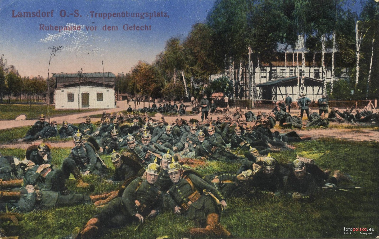 Łambinowice 1910-14 poligon