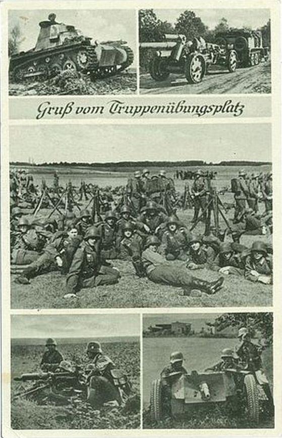 Łambinowice 1939-40, ćw.na poligonie