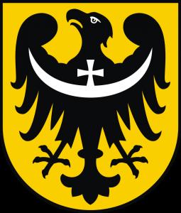 Herb województwa dolnośląskiego od 2009 r. (po uwagach komisji heraldycznej)