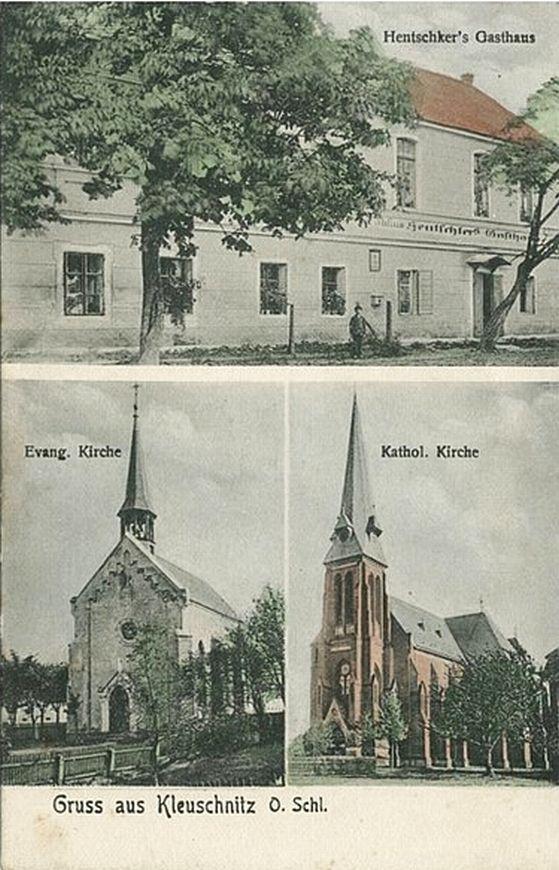 Klucznik 1910-30, zajazd, kościoły
