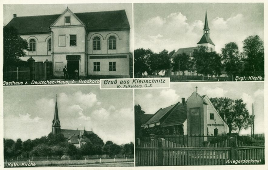 Klucznik 1936-44, zajazd, kościoły, pomnik