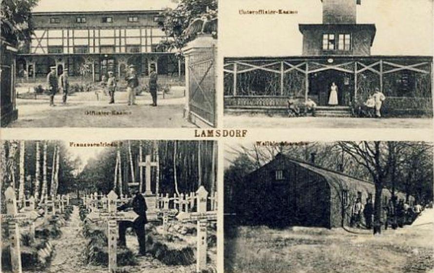 Lata 1920-1926 , Budynki na terenie Obozu I w Łambinowicach oraz cmentarz wojskowy