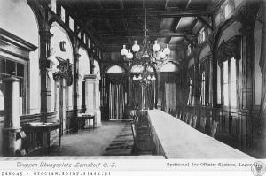 Łambinoiwce wnętrze Kasyna Oficerskiego- jadalnia 1910-15