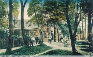 Łambinowice 1914 budynek komendatury poligonu