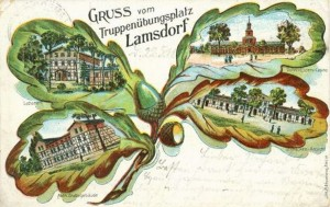 Lambinowice 1910-1915 liść dębu symbolem poligonu