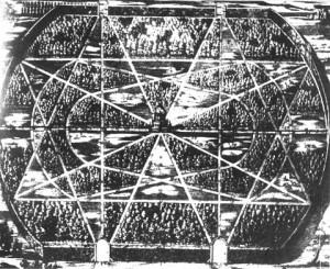 Plan zwierzyńca w Pokoju wg J. Tantzera