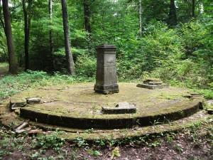 Pokój- pozostałość po okrągłej świątni z sześcioma kolumnami