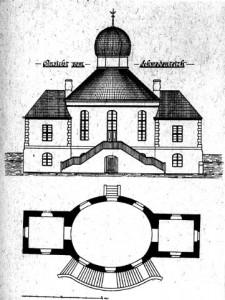 Szwedzki Pałacyk - rysunek (pałacyk spłonął około roku 1912)
