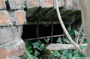 IS_Folwark Leśnik, dom mieszkalny, krata w piwnicy