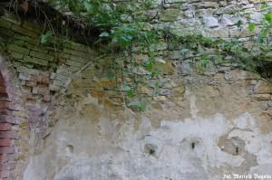 IS_Folwark Leśnik, dom mieszkalny, widać łuki po sklepieniu