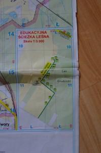 Mapka Edukacyjnej Ścieżki Ekologicznej
