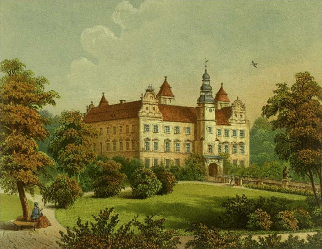 1857-1883 , zamek XIX wiecznej litografii