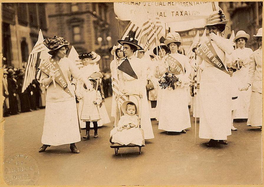 Demonstracja sufrażystek w Nowym Jorku, 6 maja 1912 r