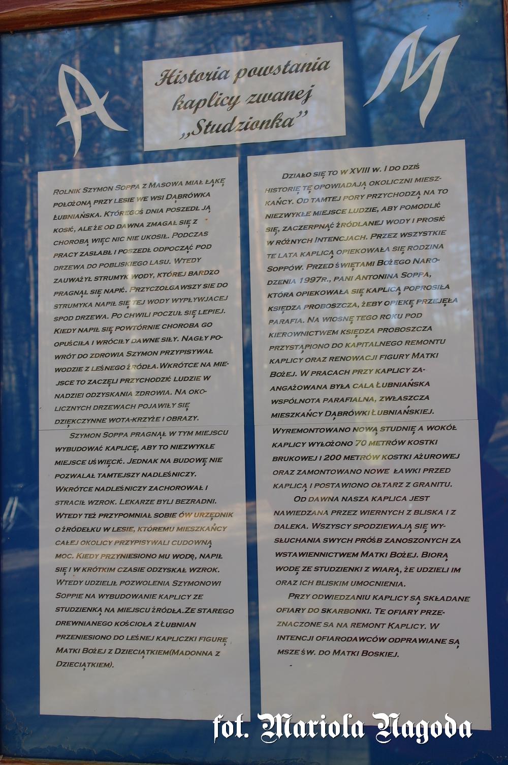 Dąbrówka Łubniańska- historia Studzionki 1