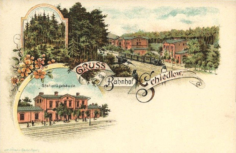 Szydłów 1898 , Pocztówka wysłana w lipcu 1898 roku z pociągu