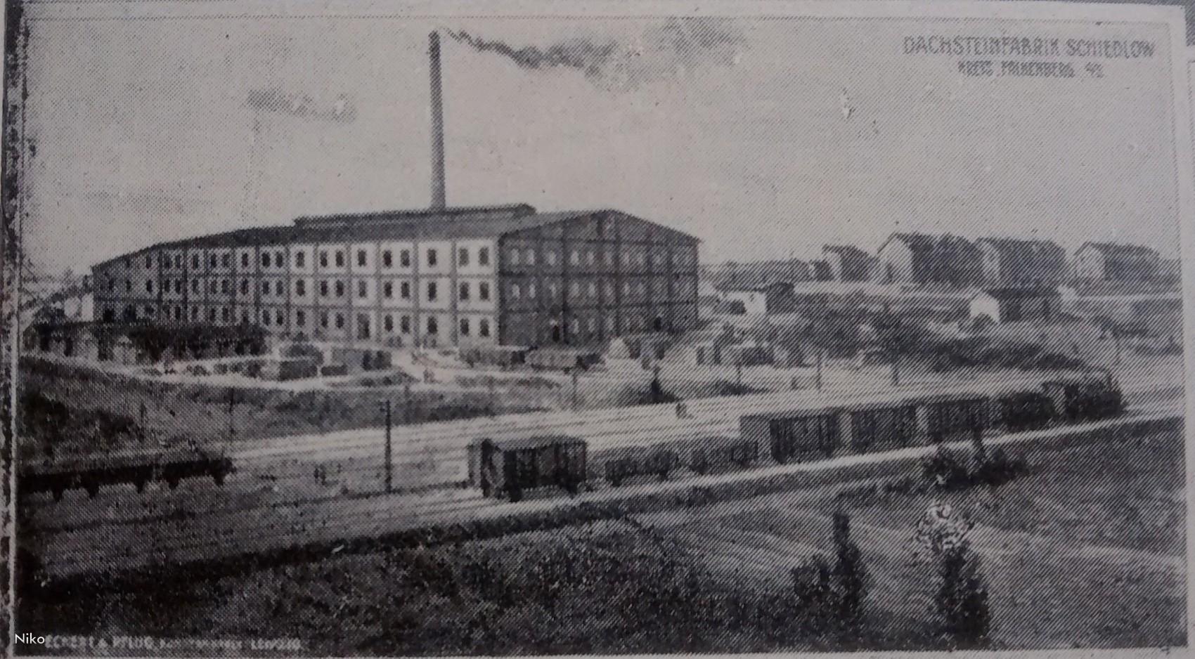 Szydłów. 1920 , Fabryka dachówki i cegielnia. Forpolska