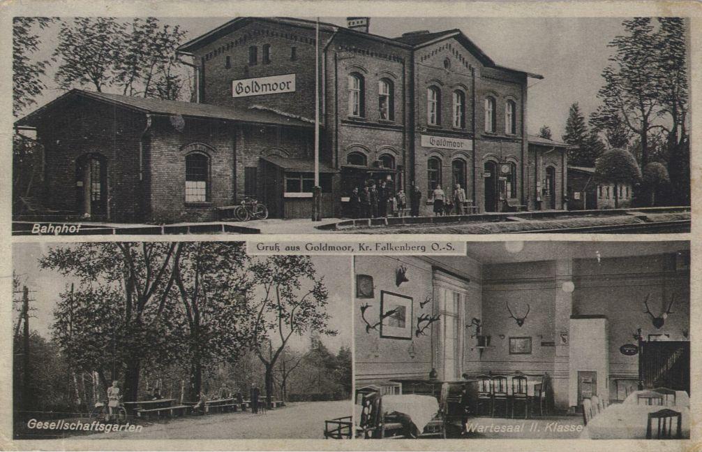 Szydłów. Lata 1936-1944 , Dworzec z poczekalnią i ogrodem