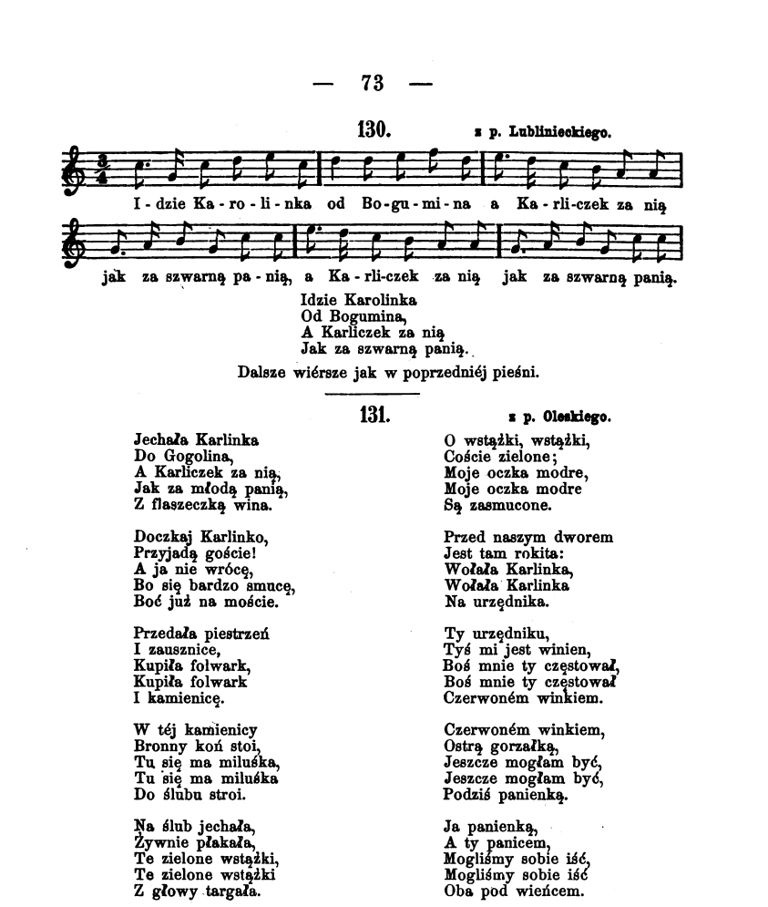 Piosenka pow. Lubliniecki i Opolski