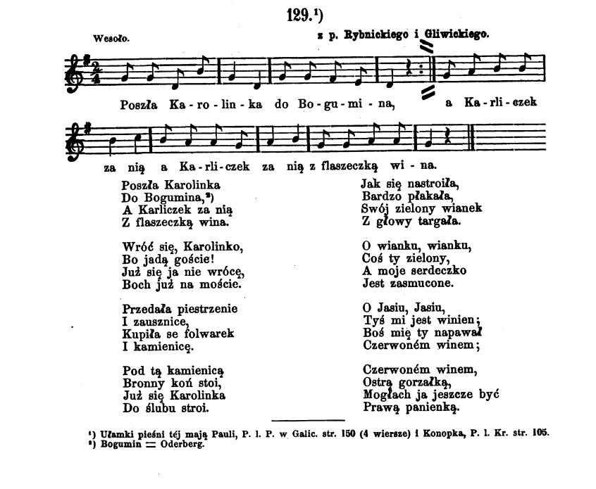 Piosenka z pow. Rybnickiego i Gliwickiego